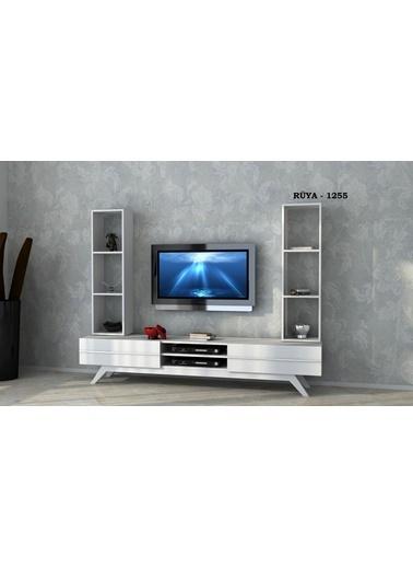 Sanal Mobilya Rüya 1255 Tv Ünitesi Beyaz Beyaz